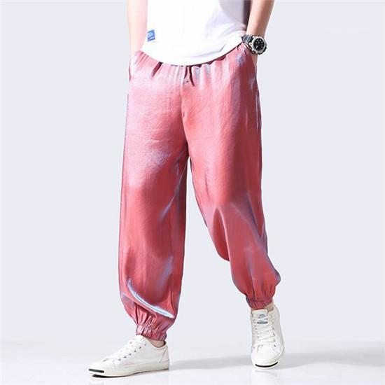 Pant Males Street Style Teenagers Casual Fashion Clothes Mens 5XL Gradient Elastic Waist Pants Spring Summer Designer Loose Harem