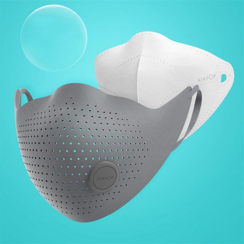 Xiaomi Youpin AirPOP Maske Air Wear PM0.3 PM2.5 Anti-Schleier-Gesichtsmaske mit 2 Stück Filter Einstellbare Ohr Hanging Komfortable Anti-Staub-Gesichtsmasken