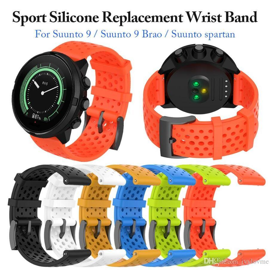 Silicone de substituição Pulseira Watch Band Bracelet Strap para faixa de pulso SmartWatch Spartan pulso esporte Hr SUUNTO 9 Baro Suunto D5
