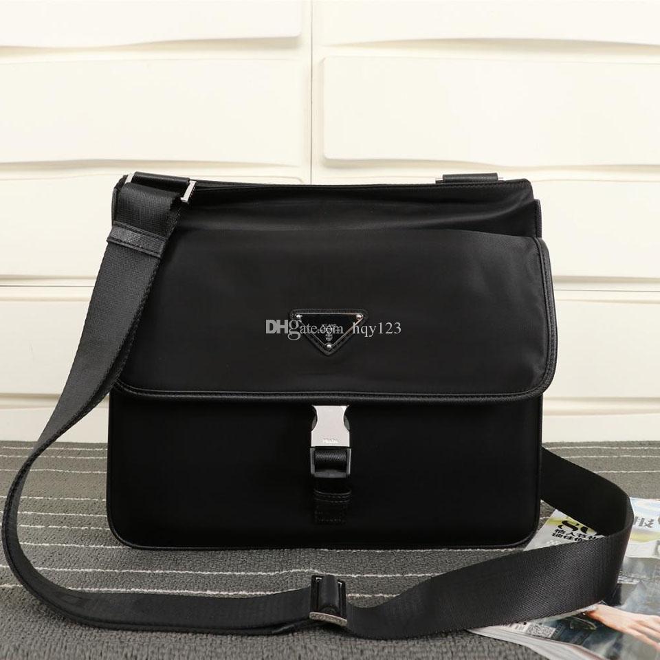latest messenger bag men cross body bag Luxury mens designer bag Plain Black Size W28xH27xD7cm model FH0269