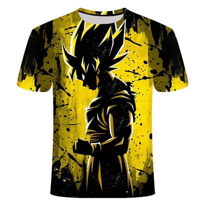 Dragon Ball Z Goku 3d T Shirt Kurzarm O -Neck T -Shirt Sommer Saiyan Vegeta Harajuku-Marken-Kleidung T-Shirt Asiatische Größe S-6XL