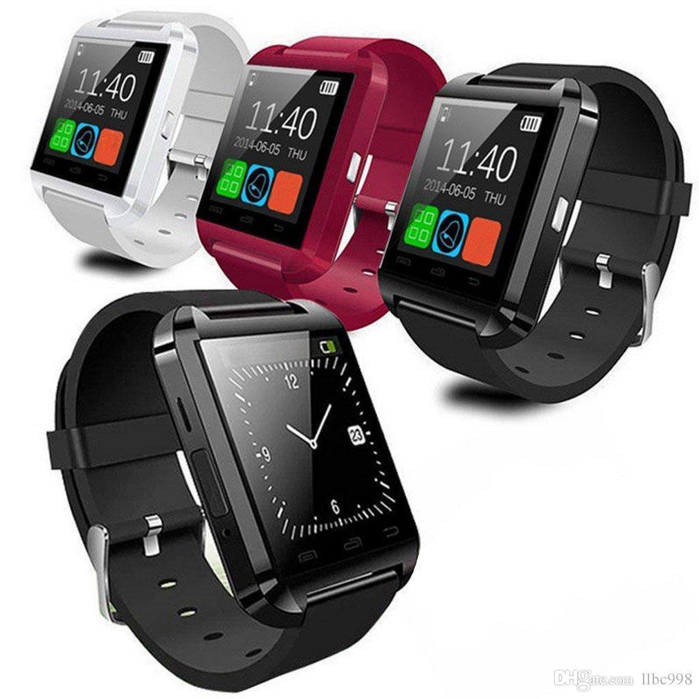 삼성 안드로이드와 소매 패키지에 대한 U8 블루투스 스마트 시계 터치 손목 시계 Smartwatch를 스마트 시계