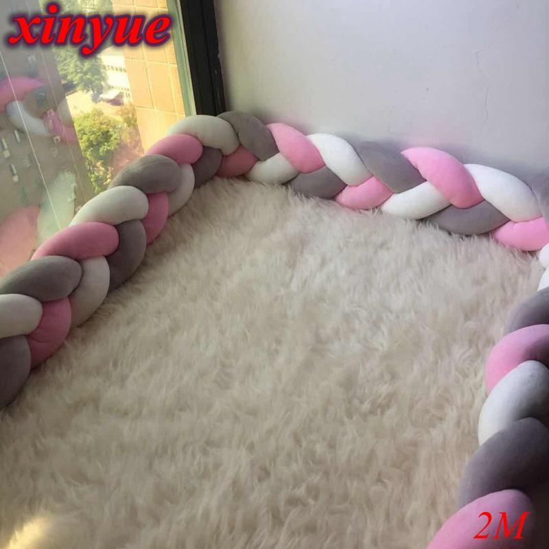 Conjuntos de ropa de cama Decoración de la habitación de parachoques de 2 m de cama Bebé para los parachoques en la cuna Actividad Equipo Madre Madre Protección de niños