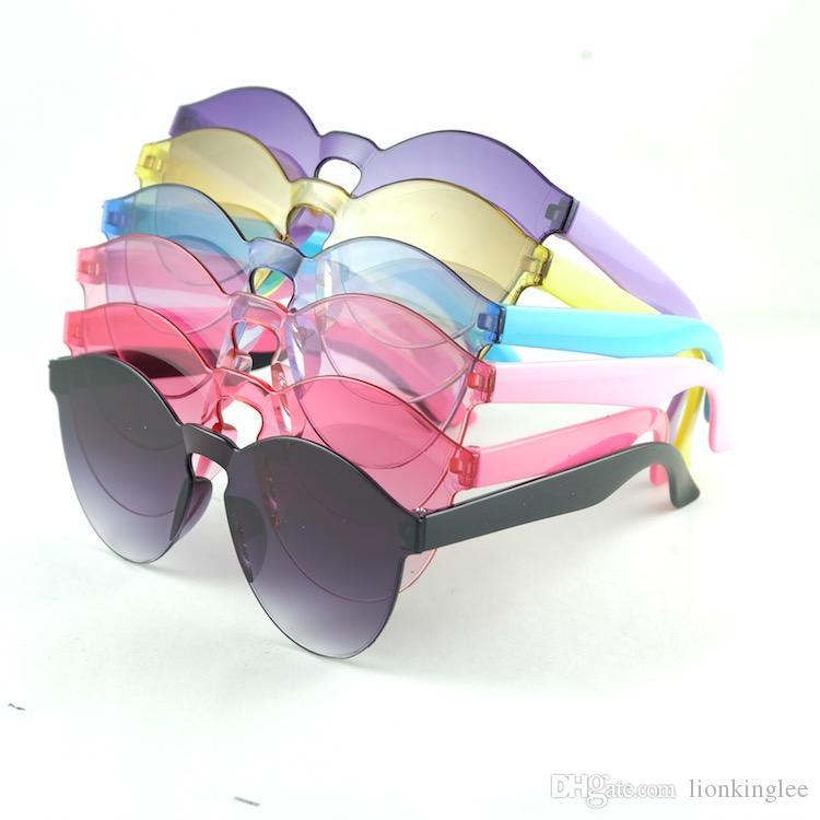 Beach Sunglass Kids Baby Summer Sunglasses Solid Frame Goggles Kid Eyeglasses 8801