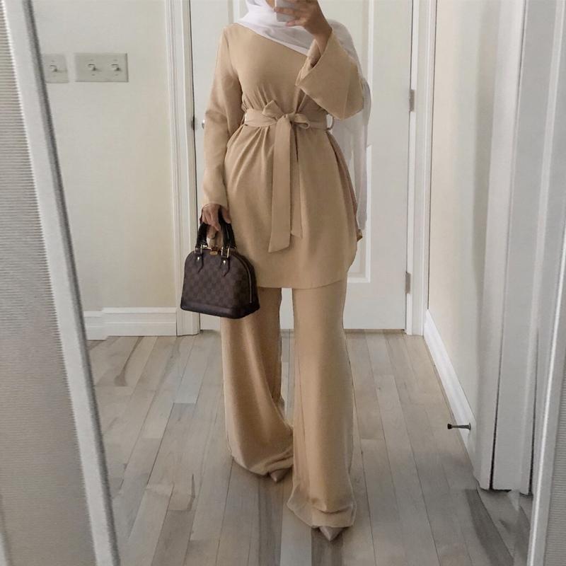 Caftan Marocain Dubai Abaya Turkish Set Muslim Hijab Dress Moroccan Kaftan Robe Islam Elbise Islamic Clothing For women Ropa