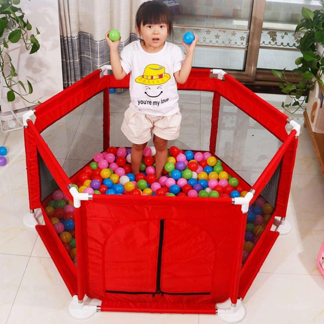 6 Side Children Baby Kids Playpen Play Pens Room Divider Heavy Duty Foldable for Kids Pet Dog Cat