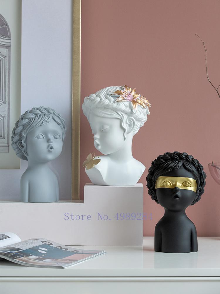 الشمال الأوروبي الإبداعية فتاة فراشة الراتنج الحرف الحلي النحت التجريدي غرفة المعيشة الحديثة التماثيل ديكور المنزل الملحقات