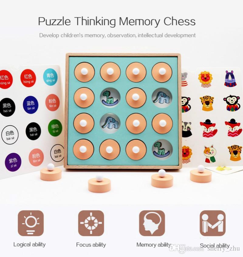 ذاكرة المباراة لعبة الشطرنج للأطفال ألعاب تعليمية التفاعل بين الوالدين والطفل لعبة لعبة الألغاز لعبة الشطرنج لالمبكرة التعليمية