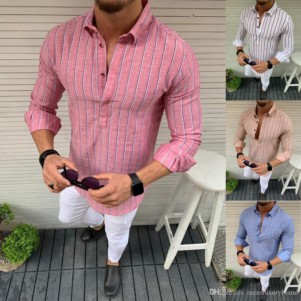 قميص مصمم أزياء (ماندرين) المصمم في الصيف ملابس ذكورية قابلة للتنفس