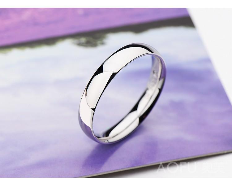Kadın Erkek Yüksek Kalite Beyaz Altın Renk Yıldönümü Doğum hediyesi için Gümüş Yüzük
