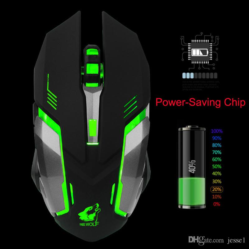 Newest High Quality X7 Laptop Desktop Computer USB Wireless Mouse Wireless Mouse Charging Silent Luminous Game Mouse DHL Free Shipping