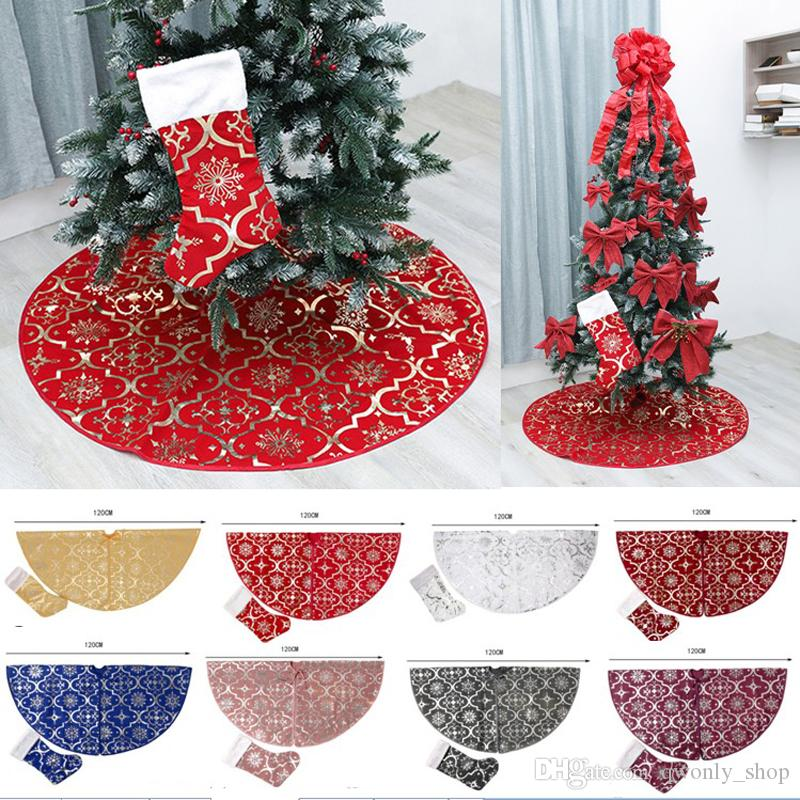 Christmas Tree Skirt Decoration With Large Christmas Stocking For Merry Christmas Party Xmas Tree Skirt Ornament Festival Supplies