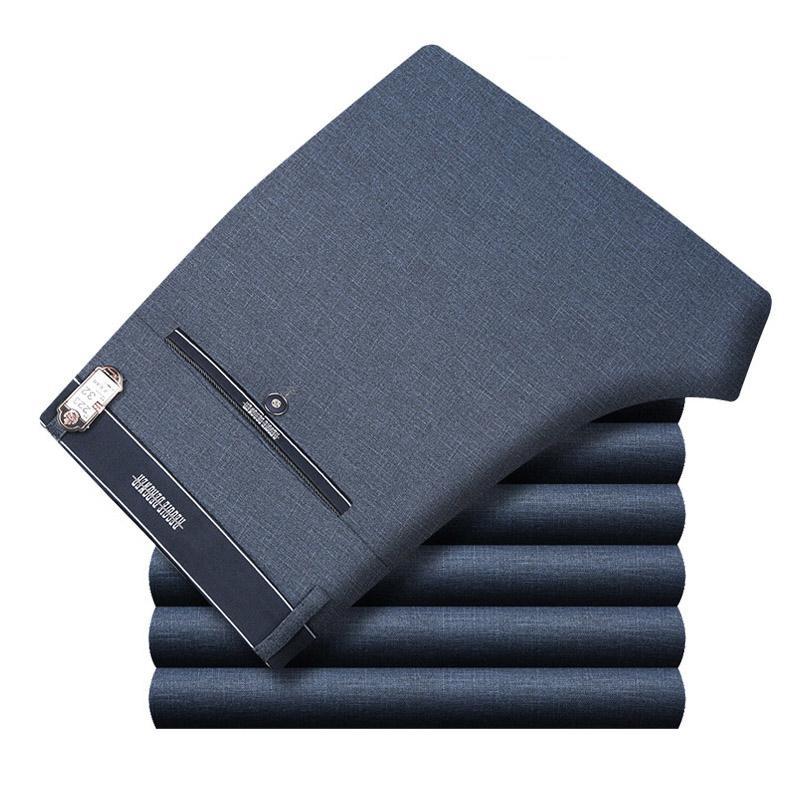 ICPANS del juego del Mens pantalones pantalones otoño vestido de los hombres de negocios para hombre recto Oficina pantalones formales tamaño grande clásico Pantalón masculino CJ191118