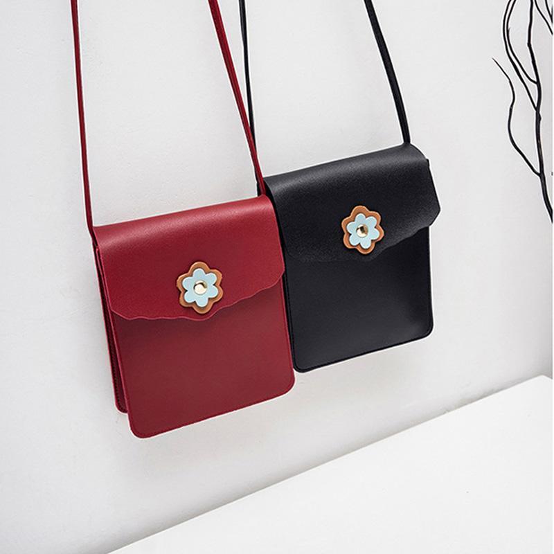 2020 Katı Renk Moda Cüzdan Omuz Çantası Son Style Sentetik Deri Sevimli Cep Telefonu Çanta Mini Çanta En Çok Satan