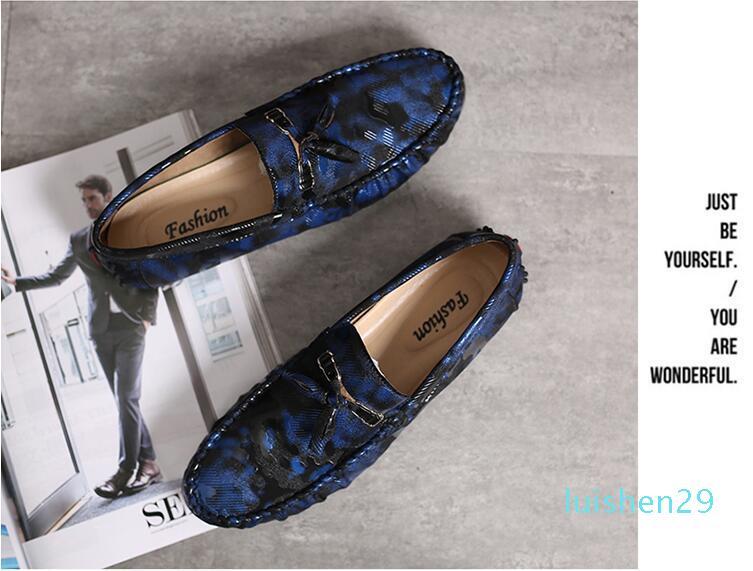 Yeni erkekler rahat ayakkabılar yüksek kaliteli lüks tekne ayakkabılar erkek düz sürüş ayakkabıları el yapımı moda rahat L29