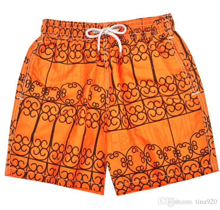 orange Men Swim Surf Board Beach Shorts Trunks Swimwear Swimsuits Mens Brand Swimming Boxers Run Casual Outdoor Jogger Shorts Quick Dry