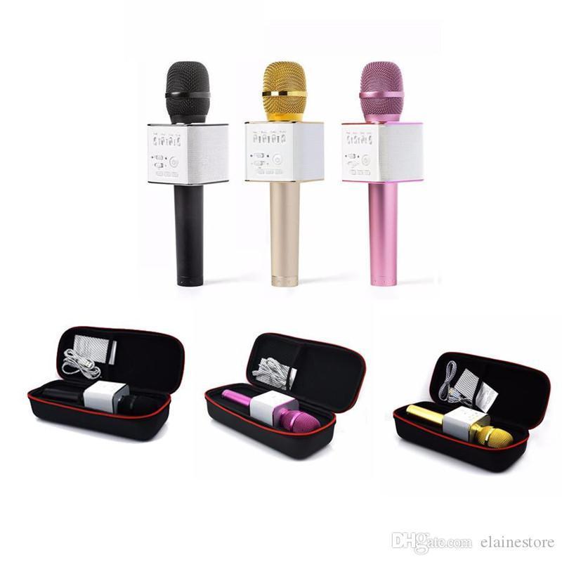 2020 Magie Q9 Bluetooth Mikrofon Lautsprecher Q9 Karaoke Singen Plattenspieler KTV drahtloses bewegliches Mikrofon für IOS Andriod Telefon mit dem Kasten