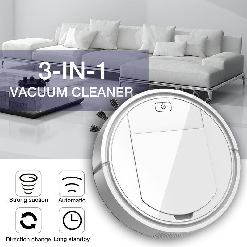 3 en 1 recargable inteligente de vacío Robot limpiador de pisos de barrido del borde de Polvo de limpieza automática barredora por aspiración de limpieza del hogar Máquina