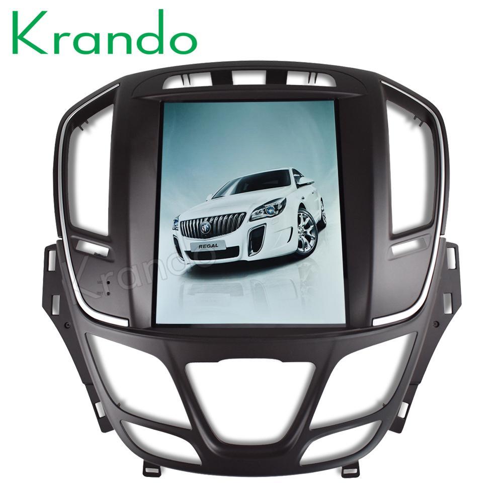 """Krando Android 8.1 10.4"""" de pantalla táctil reproductor de radio del coche Tesla vertical para Buick Regal 2014+ de navegación de DVD del coche sistema de entretenimiento KD-BR215"""