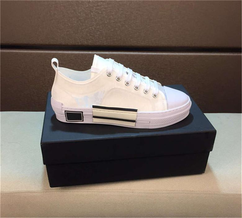 2020 telas tecnológicas Nueva 19SS oblicuas alta ayuda zapatos casuales para hombre B23 zapatos de diseño para mujer tamaño de los zapatos casuales de la moda 35-46