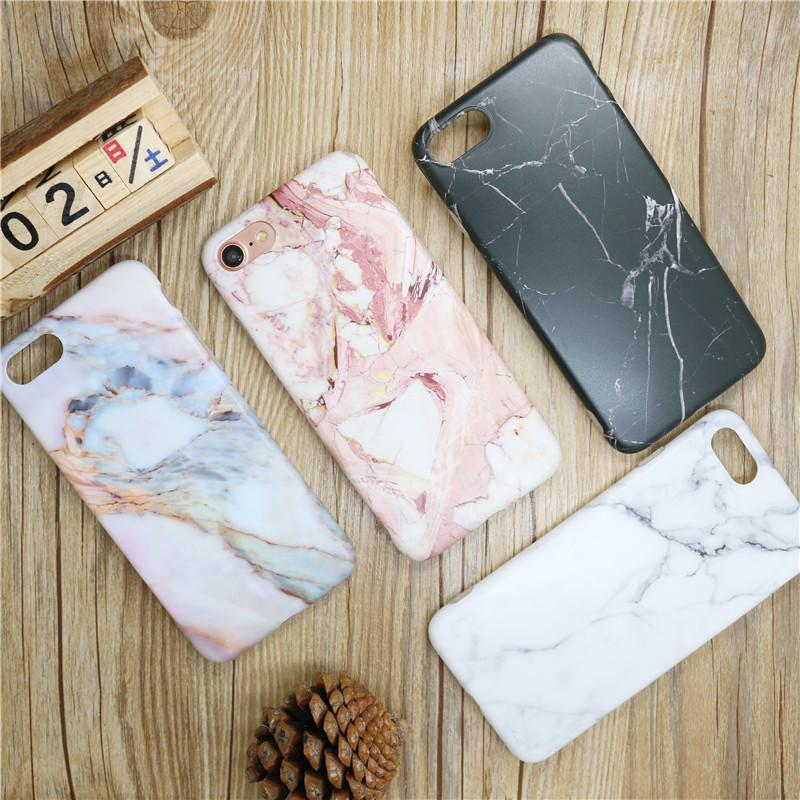 Marble Phone Case pour iPhone 6S 7 cas plus Matte tactile Marble Patterned pour iPhone 7 7 cas et plus pour l'iPhone 6 6s 8 8plus