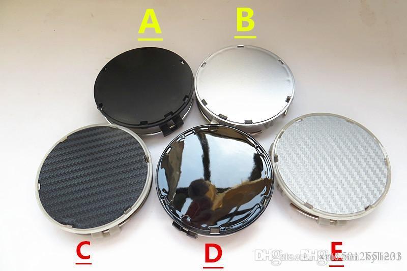 100pcs التي 75MM الفضة / الشعار من ألياف الكربون الأسود السيارات محور العجلة كاب شعار لC180 C200 C280 E200 E260 E300 ML350 W230 W210 BY DHL
