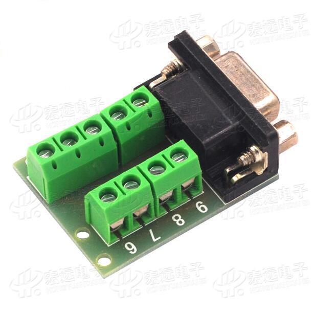 3 unids macho y hembra RS232 terminal de transferencia/puerto serie terminal de transferencia/DB9 terminal de transferencia/DB9 conector