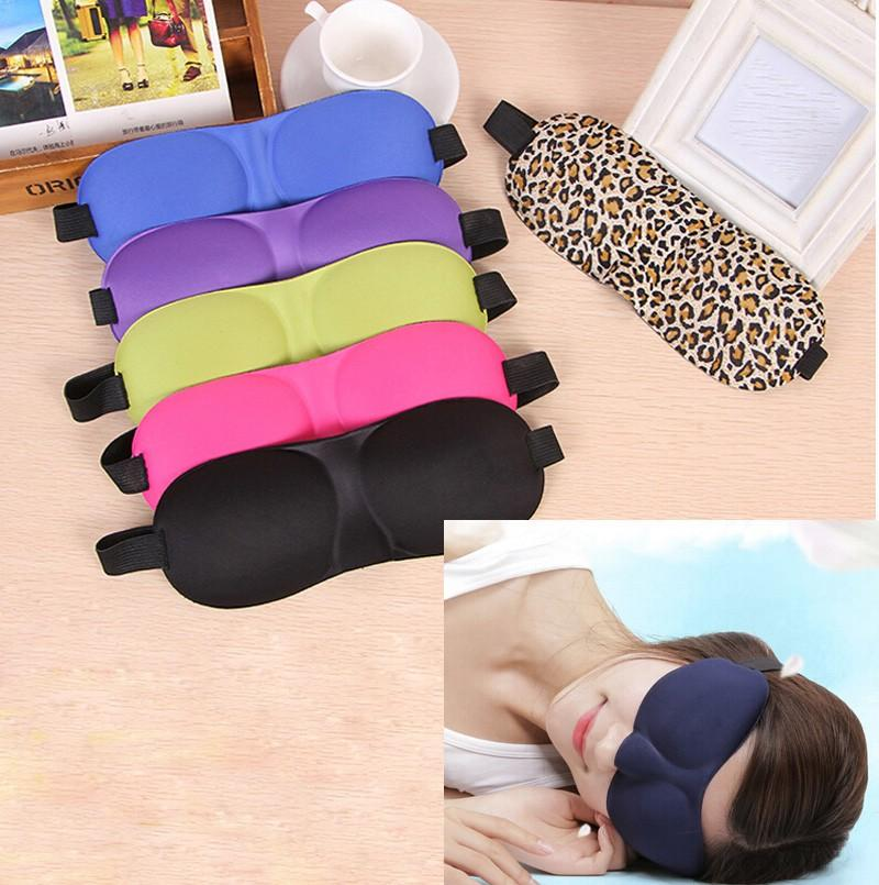 Máscaras 3D Vision Care sueño Shade acolchada cubierta para transporte Relax cubierta del ojo Blindfolds máscara el dormir Herramientas de belleza Cuidado de los Ojos