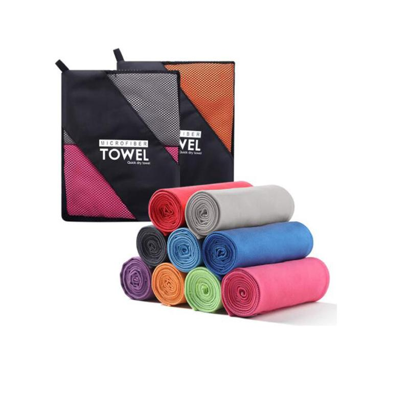 Dropshipping Gym Towel 76x152cm Larger Size Sports Towel With Bag Microfiber Swimming Travel toalha de esportes