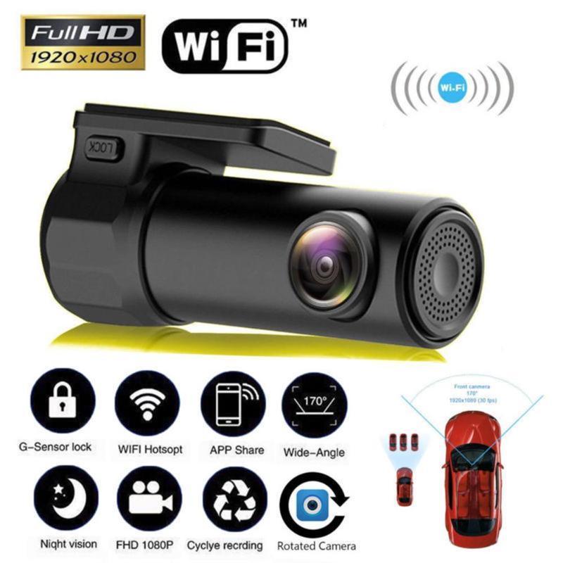 1080P Full HD Wifi Araç DVR Dash Kamera Araç Video Kaydedici 170 Geniş Açı Kablosuz Dash Cam DVR / Dash Kamera Araç Şekillendirme Sıcak