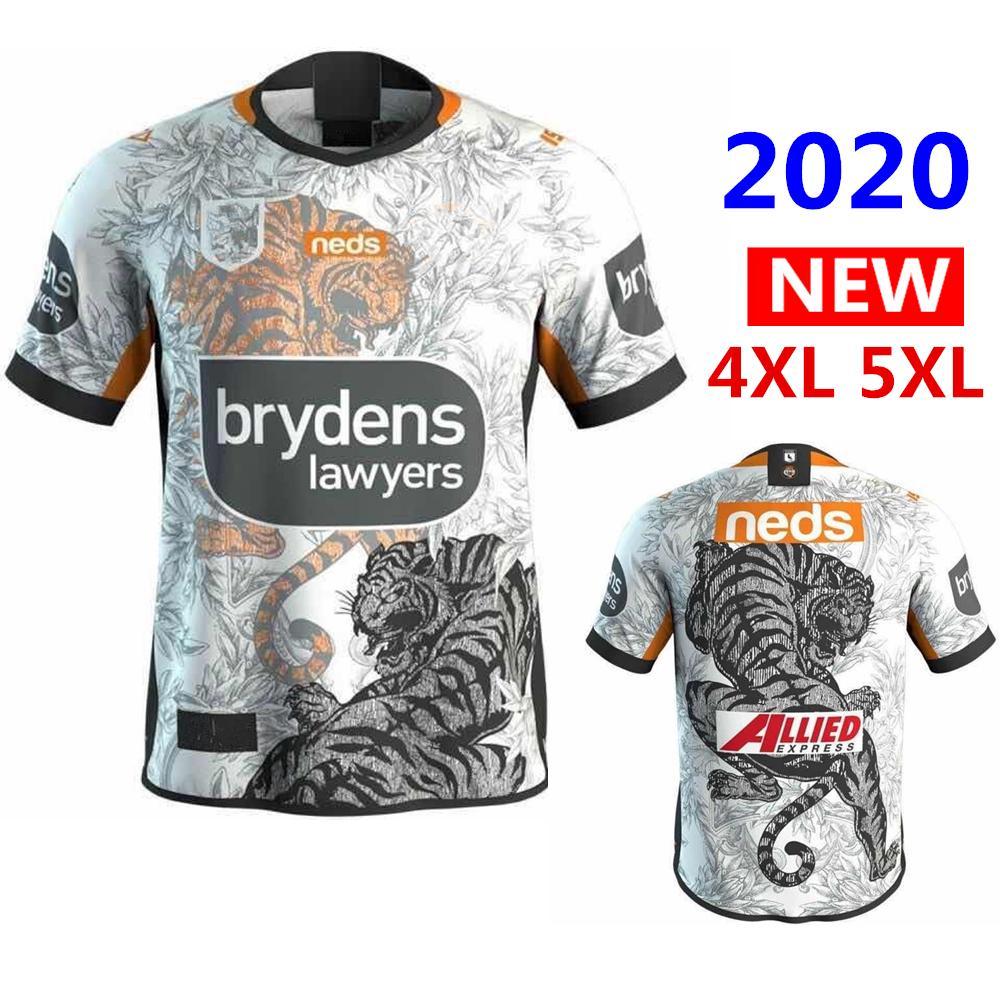Heiße Verkäufe beste Qualität 2020 West Tigers zu Hause ANZAC Nines Rugby-Trikots Australien Rugby Jersey-Shirt S-5XL