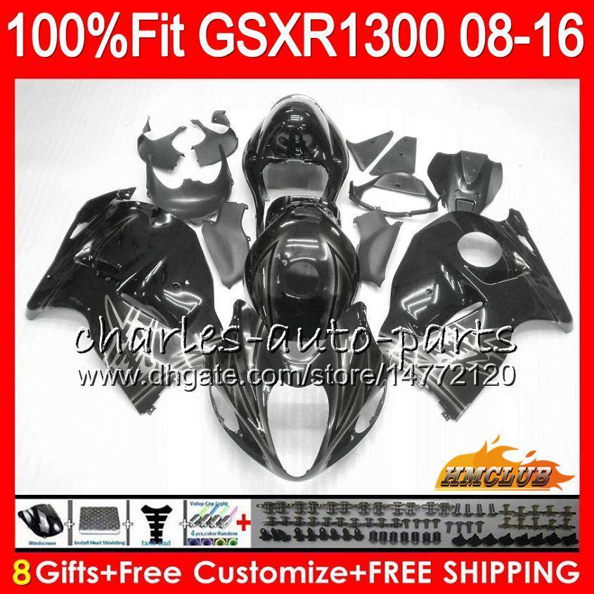 Inyección para Suzuki Hayabusa Negro Silver GSXR1300 08 14 15 16 17 18 25NO.123 GSX-R1300 GSXR 1300 2008 2014 2015 2016 2017 2017 2017 Fairting OEM