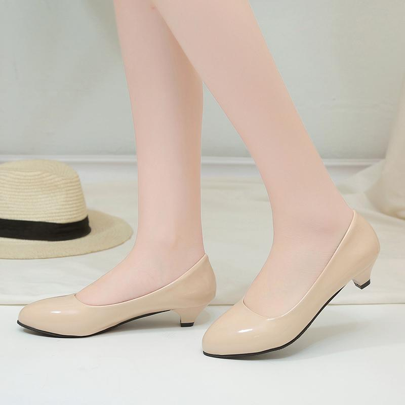 Female Pumps Nude Shallow Mouth Women Shoes Fashion Office Work Wedding Party Shoes Ladies Low Heel Woman Autumn A00139