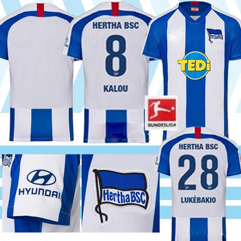 Hertha BSC Soccer Jersey PIATEK 19 20 CUNHA Maillot de football DILROSUN Berlin Hertha LUKEBAKIO Jersey hommes GRUJIC DARIDA Fußball-Triko thailandt
