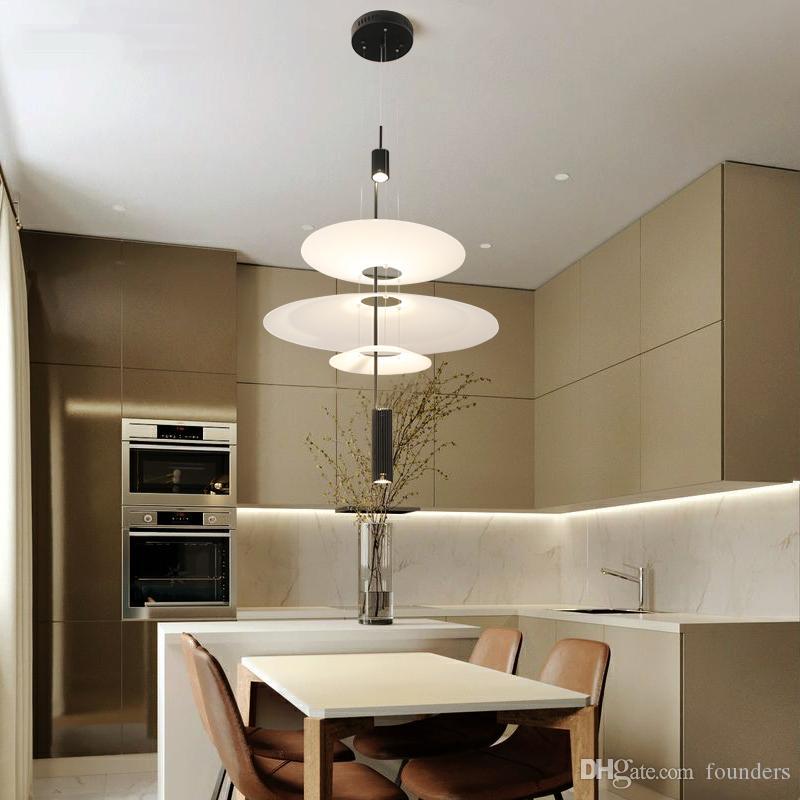 Modern Acrylic LED Pendant Light Shadow Dining Room Kitchen Light Designer  Hanging Lamps Indoor Chandelier Lighting 90 265V Clear Glass Pendant Light  ...