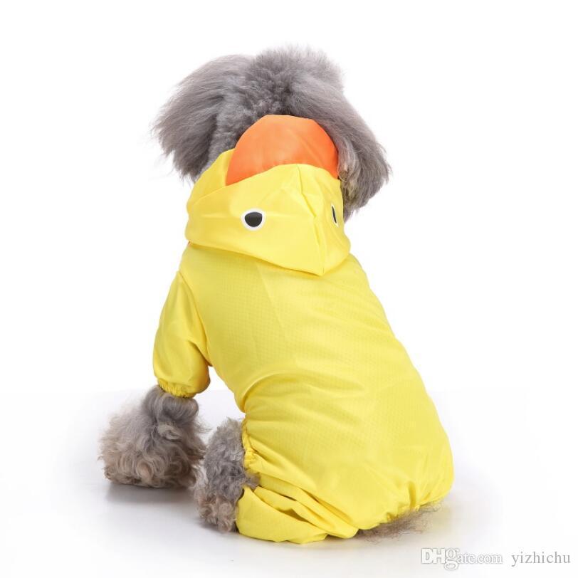 강아지 후드 티 슬리커, 방수 귀여운 재킷 의류 개 비 폰조 레인 코트, 중형 ~ 대형견 골든 리트리버 용, Samoyed