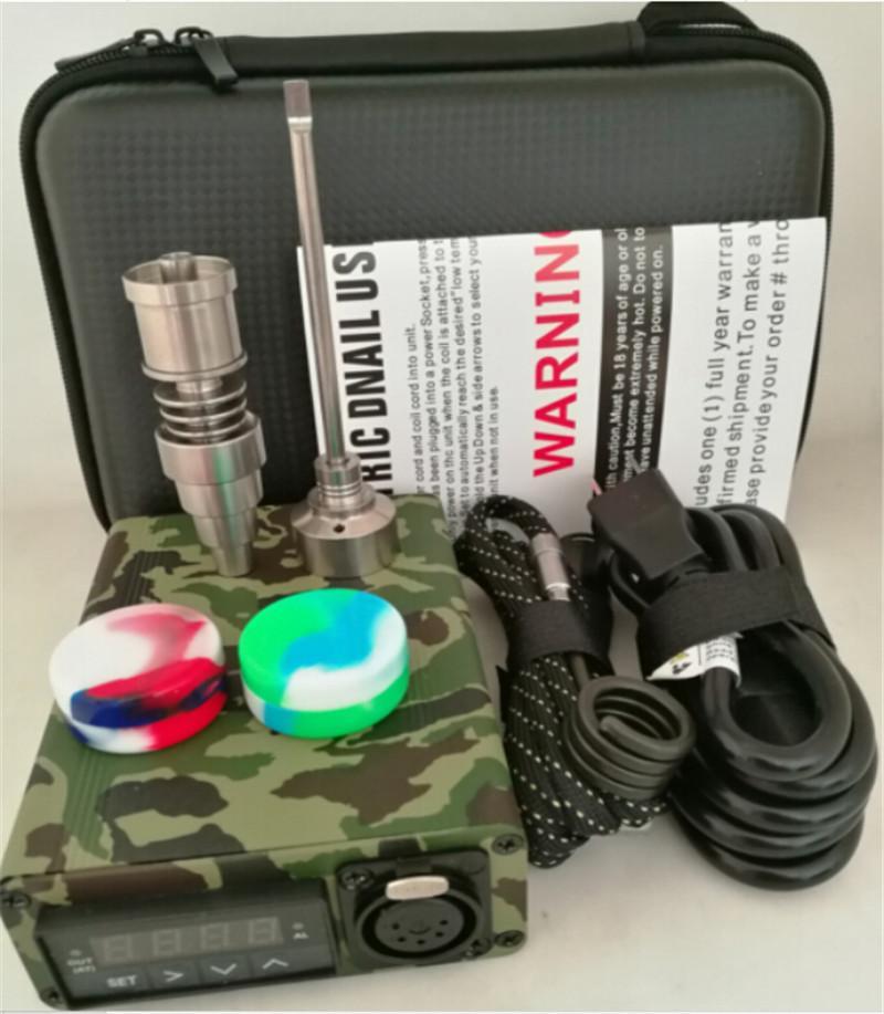 Dnail 10 couleurs Vaporizer appareil Dab Enail BOX Quatz verre titane Enail Contrôle de la température Mod pour le concentré CIRE