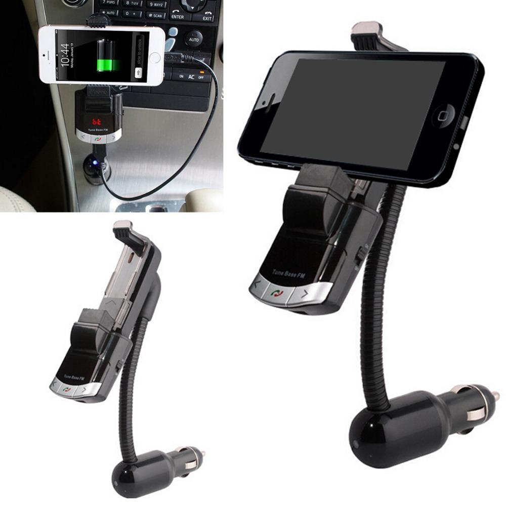 BT8118 Bluetooth FM Verici Araç Şarj Kiti Cep Telefonu Tutucu Handsfree LED Ekran U Disk MP3 AUX Ses Girişi Ayrı Güç Oynamak