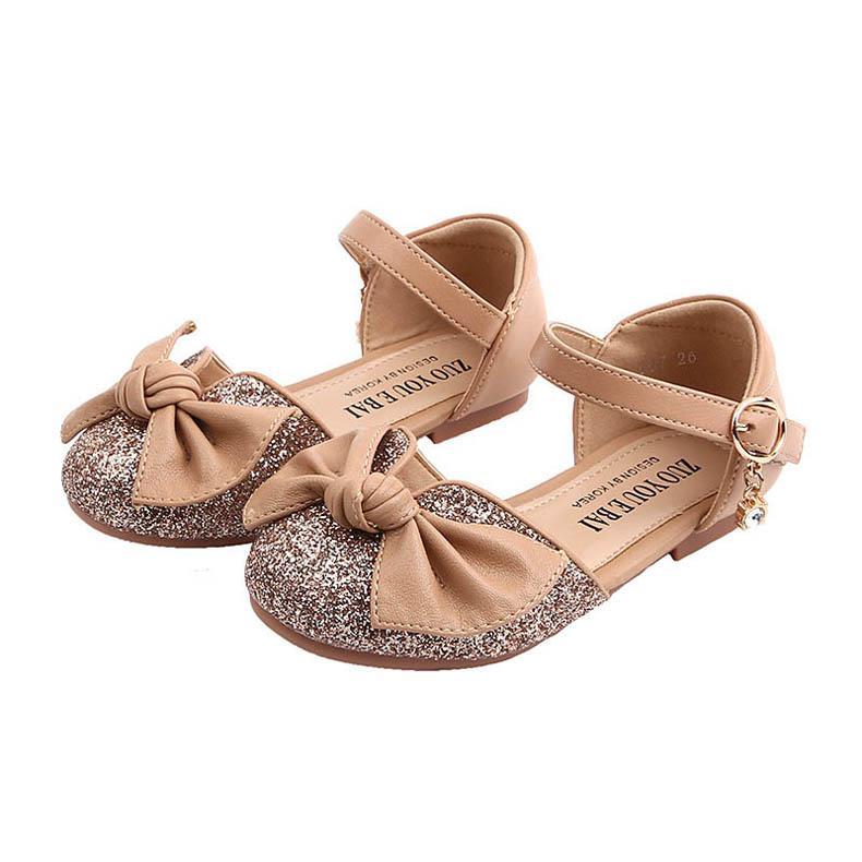 2020 été nouveaux arcs enfants princesse sequin chaussures sandales filles enfants sandales enfants chaussures de marque chaussures filles sandales tout-petits B935 détail