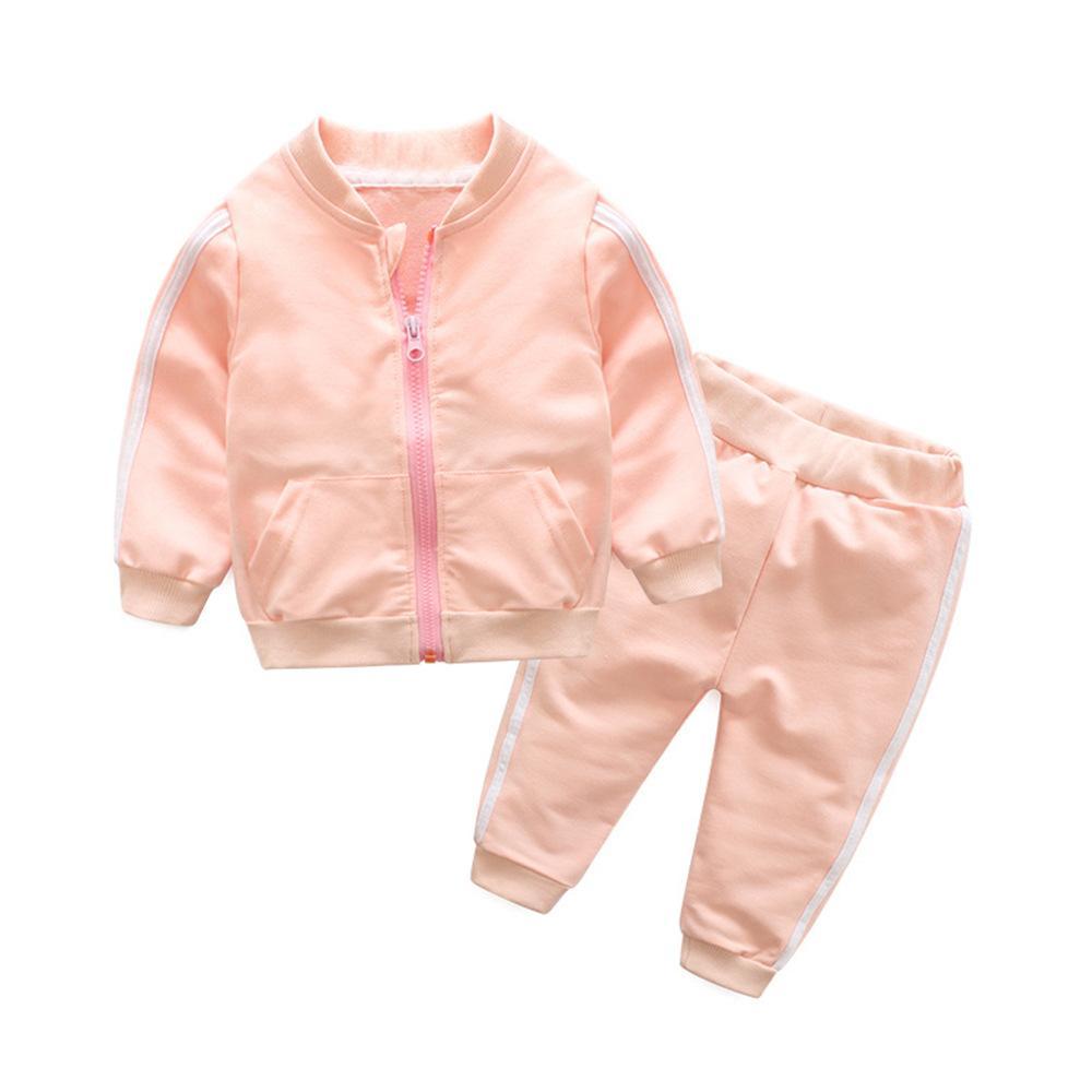 FZ1027X5 Американская весной и осенью горячий детский костюм младенца молнии дети пальто спорт две штуки наборы Одежда для новорожденных