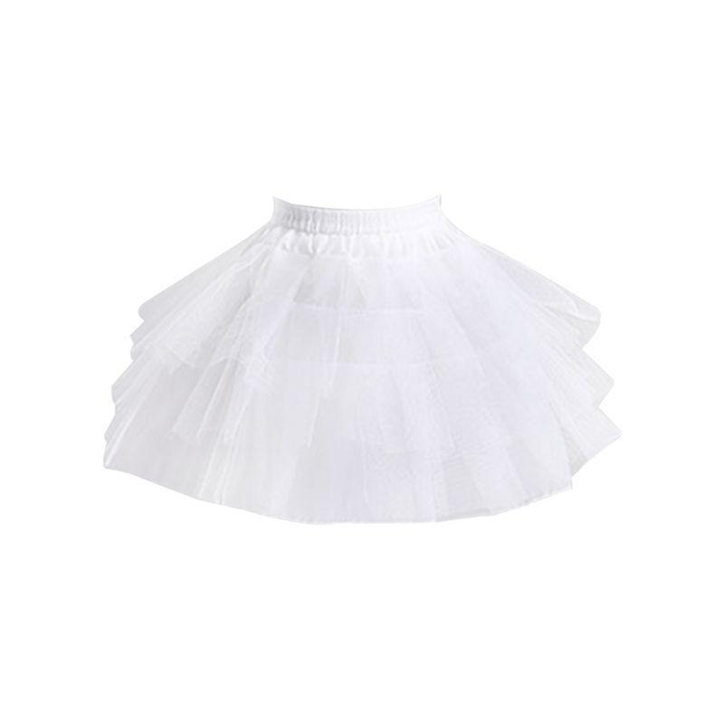 Mulheres nupcial multi camadas branco da malha Lolita curto Petticoat saia tutu com a princesa anel de aço doce Bustle casamento underskirt