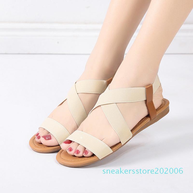 Hot Sale-Summer Woman platform Sandals Women comfortable Gladiator Flat Flip Flops Beach Sandals Bohemia Shoe Fashion Flat Sandal s6