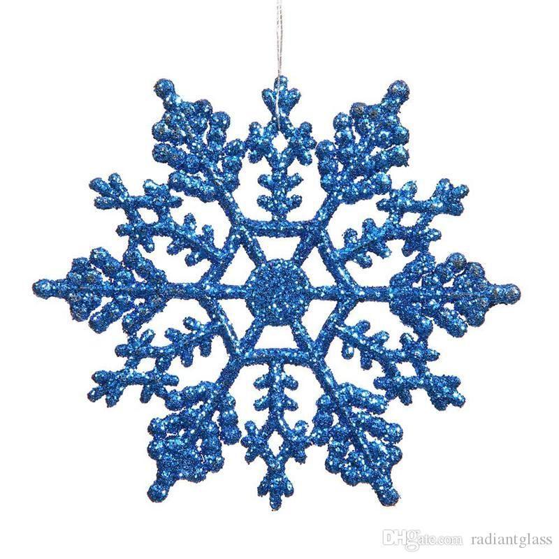 """Noel Süsler kar tanesi Renkli Glitter 4"""" Plastik Glitter Kar tanesi Kulübü Paketi 12 İçişleri dekorasyon ücretsiz gönderim"""