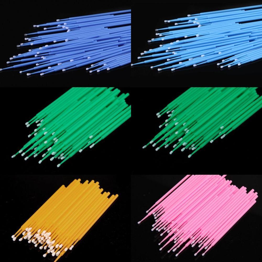 100 бровей пластиковая пробирка микро щетка одноразовый материал аппликатор для бровей средней тонкости