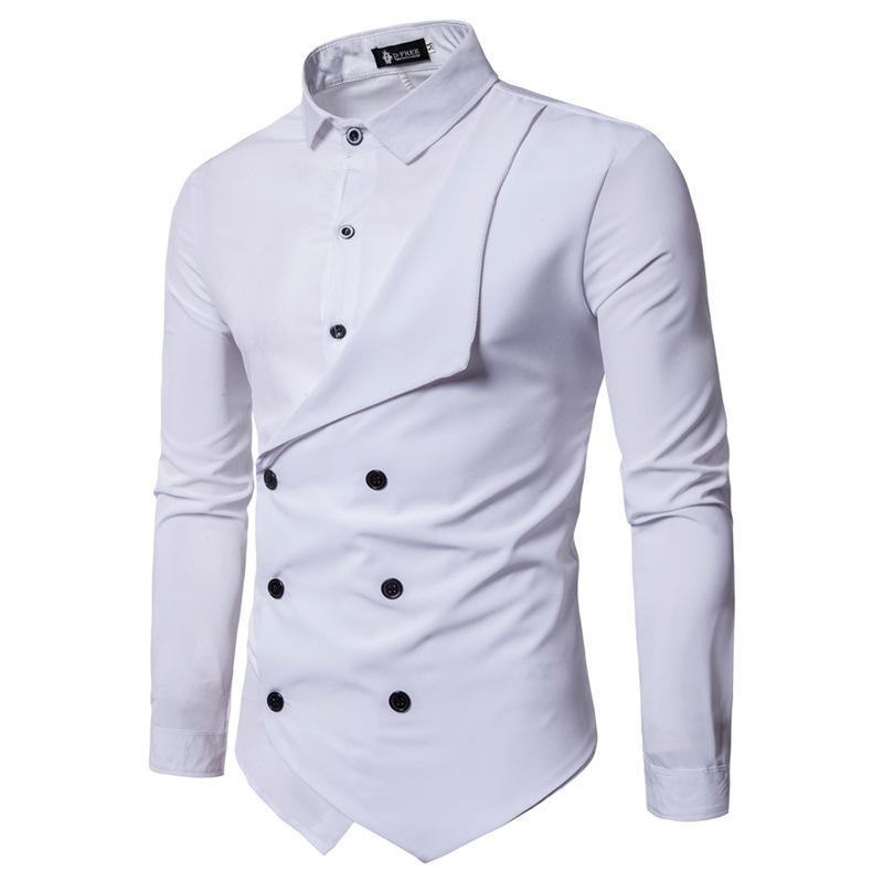exclusive deals clearance sale discount sale 2019 Stylish Mens Fake Shirts Double Breasted Designer Casual Shirts  Fashion Tops From Jeanshomme, $15.47 | DHgate.Com