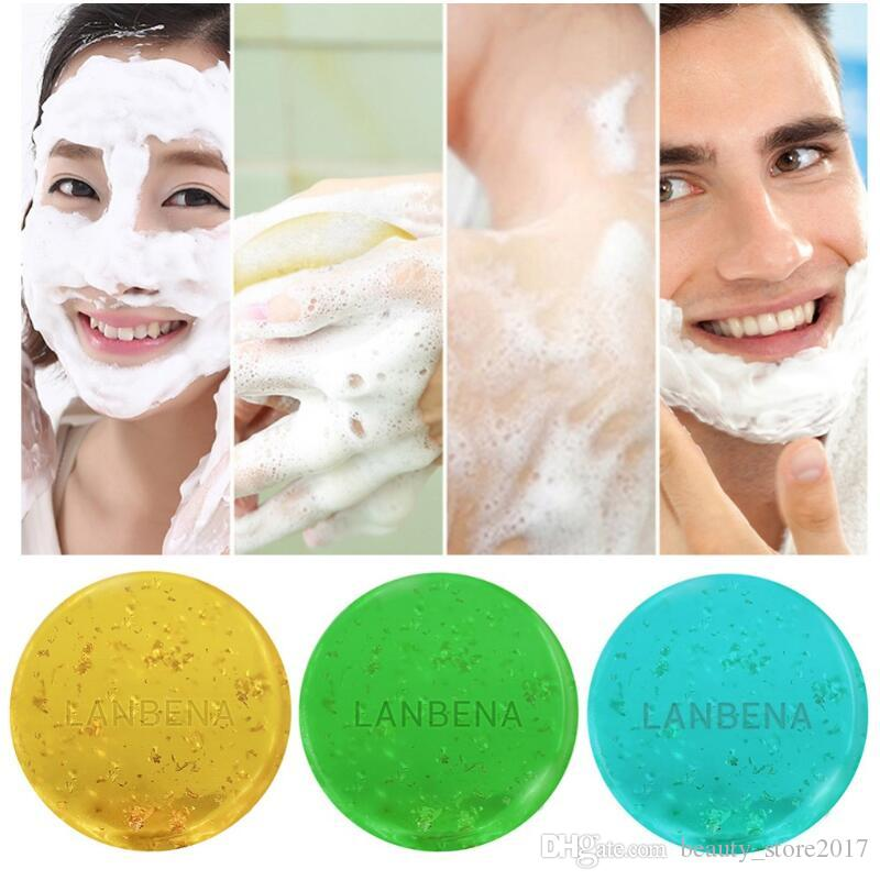 العناية LANBENA 24K الذهب اليدوية صابون الأعشاب البحرية شجرة الشاي تطهير الوجه مرطب الوجه صابون غسل الجلد