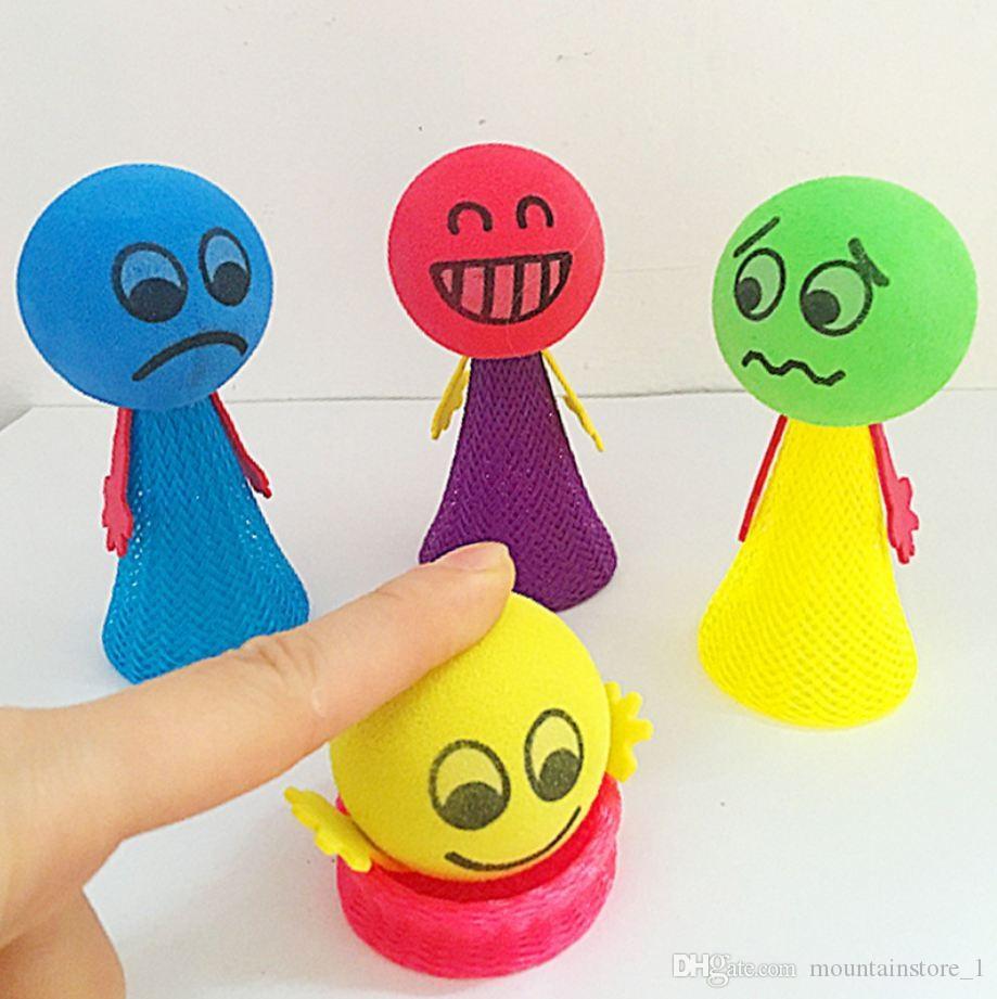 Newly 6.5CM 9CM Funny Mega Fly Jump Children Prank Strange New Bounce Elf Children's Educational Toys (Retail)