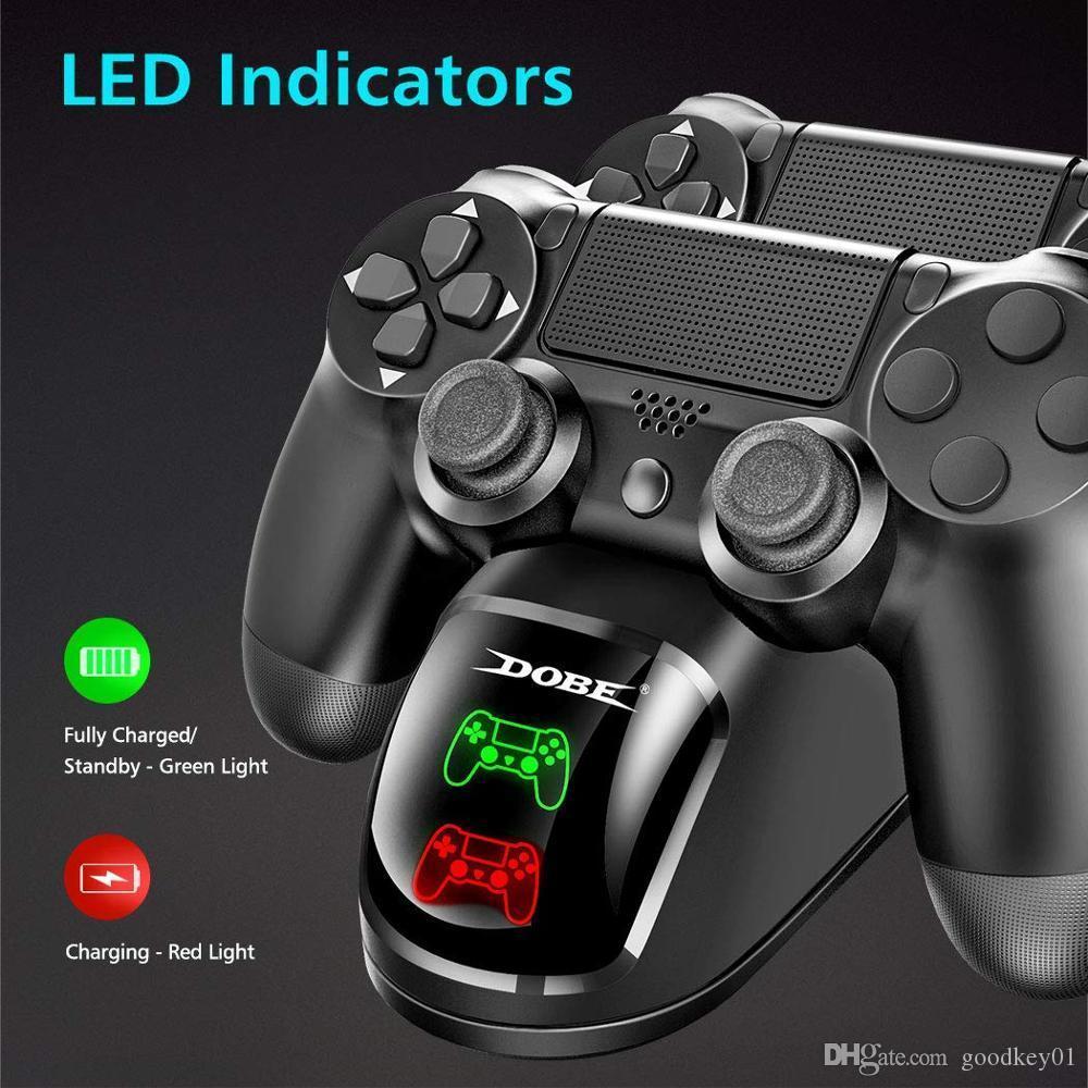Çift USB kolu Hızlı Şarj Dock İstasyonu standı şarj için PS4 / PS4 Ince / PS4 Pro oyun denetleyicisi Joypad Joystick
