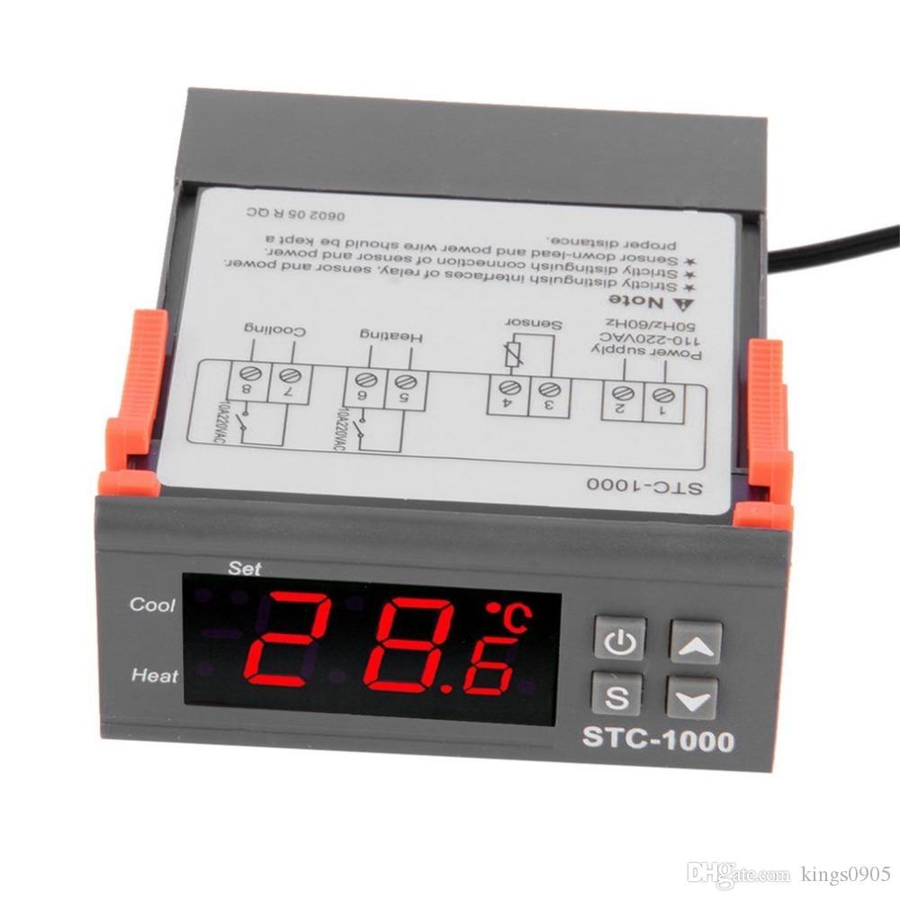 Digital LCD Temperature Controller Thermostat Aquarium STC1000 Incubator Cold Chain Temp Laboratories Temperature With Sensor