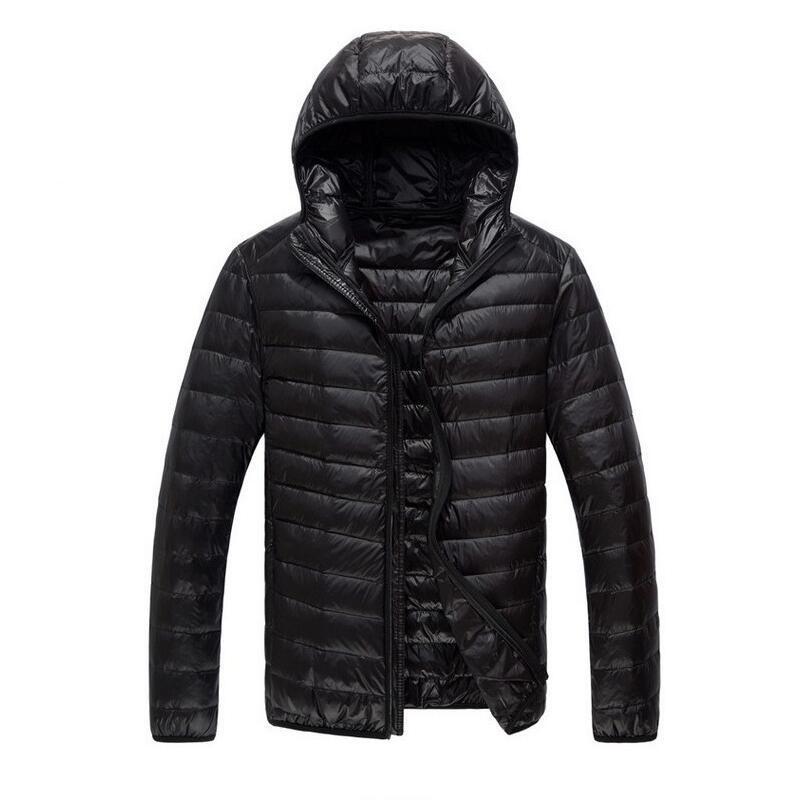 2019Light y chaqueta delgada de los hombres de los hombres de pato chaqueta blanca casual y delgado, para abreviar transpirable